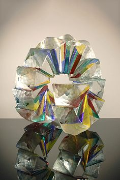 """Richard Royal Solid Nautical Spiral, 2014 18 x 19.5 x 17.5"""" Cast, carved and laminated glass"""