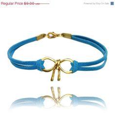 Sale Bow bracelet  friendship bracelet wire bow by SheBijouPl, $7.20