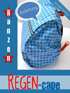So easy you can easily sew the rain cover for the satchel // Sewing instructions by frau liebstes So Sewing For Kids, Baby Sewing, Free Sewing, Sew Baby, Sewing Tutorials, Sewing Projects, Sewing Patterns, Diy Handbag, Diy Purse