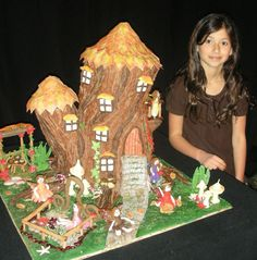 Home - With Love & Confection. My 9 yr old daughter designed and created this Gingerbread Fairy Tree House for the Grove Park Inn National Gingerbread House Competition and won 2nd place. Everything is edible.