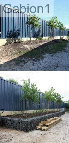 Gabion wall before and after http://www.gabion1.com.au