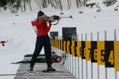 The Biathlon centre in Valdidentro has 30 electronic shooting lines and every year it hosts national competitions. Winter Season, Centre, Competition, Activities, Sports, Biathlon, Pearls, Winter Time, Hs Sports