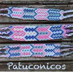 http://patuconicos.blogspot.com.es/  Bracelete doble de la amistad Patuconicos no hay dos iguales.   De hilo hecho a Mano con nudos de macramé. cierre con nudos  precio 12 €