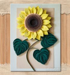 Original Paper Quilling Wall Art - The Sunflower. Handmade. Design. Decor.Gift. Artwork. by QuillingbyLarisa on Etsy