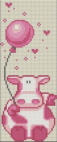 Birthday cow cross stitch.