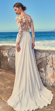 elbeth gillis milk honey 2017 bridal separates illusion long sleeves a line wedding dress (tara top shelby skirt) bv train