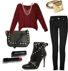 """Fall fashion #2: Rocker Glam"" by jkapp ❤ liked on Polyvore"