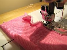 Lettuce Edge on a sewing machine