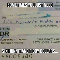 Six hunnit and fiddy