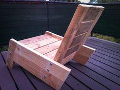 modern/vintage reclaimed wood deck chair by BetoGonzalezWOOD