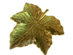 Autumn Pottery Barn Harvest Leaf Shaped Green Salad Plate #appstersrock #appsters #rock