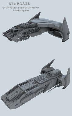 USAF Phoenix and USAF Fenrir combo update. Phoenix and Fenrir update 1 Stargate Ships, Stargate Atlantis, Stargate Universe, Starship Concept, Sci Fi Spaceships, Starship Troopers, Sci Fi Models, Sci Fi Ships, Star Trek Starships