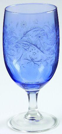 Spode blue goblet