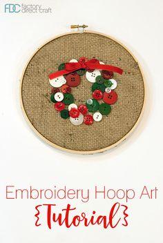 Christmas-Wreath-Embroidery-Hoop-Art