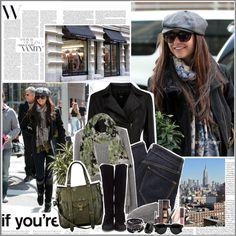 """[795] - Street Style: Nina Dobrev"" by juuh ❤ liked on Polyvore"