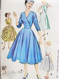 1950s mccalls patterns | 1950s McCalls 9447 Vintage Sewing Pattern RARE 4 Pattern Pc Half and ...