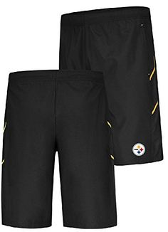 Pittsburgh Steelers Mens Black Team Pride Majestic Synthetic Shorts (X-Large)  http://allstarsportsfan.com/product/pittsburgh-steelers-mens-black-team-pride-majestic-synthetic-shorts-x-large/  Made by Majestic for Fans of the Steelers Machine Washable on Cold, Loose Fit, Side Pockets Made from 100% Polyester Moisture Wicking Material