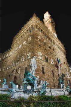 Fountain of Neptune  Palazzo Vecchio  Florence, Italy