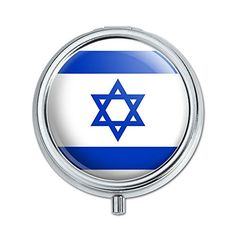 Israel National Country Flag Pill Case Trinket Gift Box * Click the VISIT button to enter the Amazon website