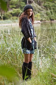 Rubbish® Cardigan & Mimi Chica Dress #Nordstrom #BPNordstrom #FallTrend