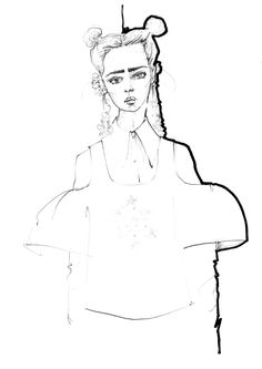 Polly Clarkson - Fashion Illustration - Delpozo