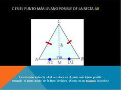 La mejor ubicación para la retención indirecta es la más lejana posible de la línea de fulcro. Sale de una perpendicular trazada desde el punto medio, aplicando geometría. Se opone al giro de la prótesis, como en el cuadro anterior (Imagen 1), aplicando criterios de Física.