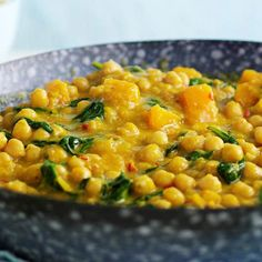 Chickpea and squash coconut curry