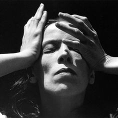 I really like this photo because it shows the shadows of the hands over the face and the photo in all is very clear. Imogene Cunningham