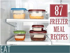 Make Ahead Meal Inspiration - 87 Freezer Meal Recipes freezer-cooking Crock Pot Recipes, Meal Recipes, Cooking Recipes, Freezer Recipes, Cooking Tips, Budget Recipes, Plan Ahead Meals, Make Ahead Freezer Meals, Crock Pot Freezer
