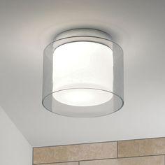 On Display-Arezzo ceiling bathroom ceiling-light. Polished chrome finish, white…