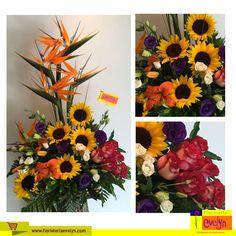 ¿Te encantan las flores?  Te compartimos un hermoso detalle floral elaborado en base de corteza de árbol con #Rosas #Girasoles #Lirios #AvesDelParaíso  Visita nuestro sitio web: www.floristeriaevelyn.com donde encontrarás arreglos florales para toda ocasión.