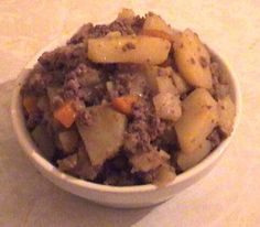 Stovies. Reminds me of home. May need to make them tonight.