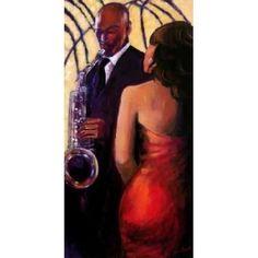 Sax Seduction Canvas Art - Monica Stewart (10 x 20)