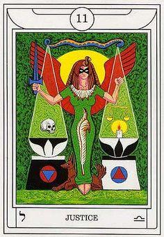 Justice - Golden Dawn Magical Tarot