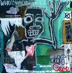 """""""Who´s who, 2011"""" by Syvlia Calmejane - Mixed media, collage on board, bolted perspex 100 x 100 cm #Collage #Calmejane #Who #Art"""