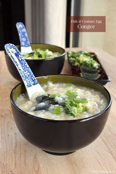 I have a question guys. Do you eat congee only for breakfast? Or do you have it for supper as well? I actually love having congee more as supper item instead of… Easy Chinese Recipes, Asian Recipes, Gourmet Recipes, New Recipes, Healthy Recipes, Ethnic Recipes, Yummy Recipes, Century Egg Congee Recipe, Pancakes For Dinner