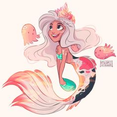 Found some time between work to join the #mermay challenge by @tombancroft1 I love drawing mermaids so much ahhHHHH