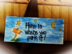 RV Camping Home Park Camper Personalized Gift Sign Country Welcome