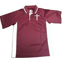 Men's Maroon Color Blocked Wicking Polo. To order go to www.crosspowerlife.com/Believe
