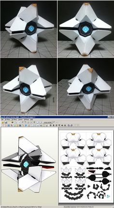 Destiny Ghost Papercraft by n8s