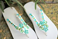 Mariah has 15 easy and fun DIY ideas for customizing inexpensive flip flops for yourself and the kids. Some of them are easy enough for the kids to do!