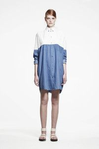 COLOR BLOCK SHIRT DRESSCOMPOSITION: 100% COTTONGRAPHIC:COLOR: CHAMBRAYCOUNTRY: CHINA