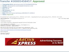 "INCOME JUST BY WATCHING ADS AND POSTING ""I WORK FROM HOME less than 10 minutes and I manage to cover my LOW SALARY INCOME. If you are a PASSIVE INCOME SEEKER, then AdClickXpress (Ad Click Xpress) is the best ONLINE OPPORTUNITY for you  And many more earnings with AdclickXpress like  GET RICH POSTING YOUR PAYOUT PROOFS AND GET REWARDS... For more Details Dial +918642008333To join Click the given link :- http://www.adclickxpress.is/?r=gs3wv27a2pqh&p=mx"