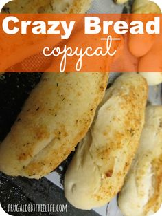 "Little Caesars Copycat Crazy Bread. These bread sticks made at home taste just like the ""real thing"" even better in my opinion."
