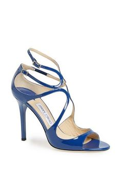 563dcbcc9bb9de Get the must-have sandals of this season! These JIMMY CHOO Lang Royal  Patent Leather Strappy Size BLUE Sandals are a top 10 member favorite on  Tradesy.