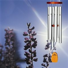 Amazing Grace Medium Sandblast Silver.  Our most popular tuning, featuring contemporary, sandblast-textured tubes.  This wind chime plays the inspiring tones heard in the opening measures of Amazing Grace, one of America's best loved and most widely known hymns. Offering a message of hope and redemption, this mid-range sized windchime features dulcet tones that are both exalting and soothing.  #windchimes #chimes #amazinggrace