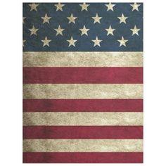 #country - #Rustic Vintage American Flag Fleece Blanket