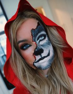 Halloween Makeup Ideas - Little Red Riding Hood - Halloween Makeup   Amazing DIY Halloween costume ideas. Whether you're going for pretty or scary this halloween this tutorial will show you how to do the creative makeup to make your scarecrow halloween outfit come to life #halloween #tutorial #costume #creativemakeup #scarecrow