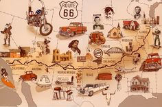 Route 66, The Mother Road, Illinois - California, USA