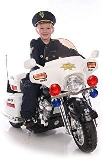 Shop for One-seater White Police Patrol Motorcycle Ride-on. Get free delivery On EVERYTHING* Overstock - Your Online Toys & Hobbies Store! Outdoor Toys For Kids, Toys For Boys, Kids Toys, Children's Toys, Kids Motorcycle, Motorcycle Battery, Scrambler Motorcycle, Motorcycle Party, Kids Police